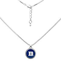 College Fashion Duke University Logo Charm Nessa Necklace
