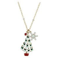 THE CRYSTAL CHRISTMAS TREE & SNOWFLAKE NECKLACE | IRIDESCENT