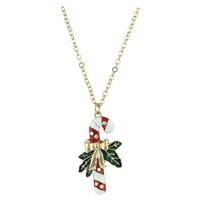 THE RIBBON CANDY CANE NECKLACE