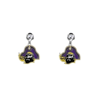 Dangle Logo Charm Earrings | East Carolina