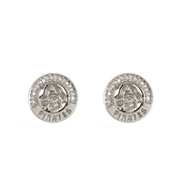 Silver Studded Circle Earrings | East Carolina