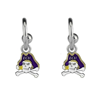 College Fashion East Carolina University Logo Charms Post Dangle Emma Earrings