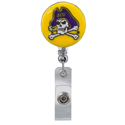 College Fashion East Carolina University Retractable ID Larry Lanyard Badge Reel