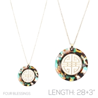 FOUR BLESSINGS NECKLACE | MULTI