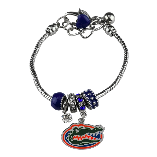 College Fashion Crystal University of Florida Logo Charms Betsy Bracelet