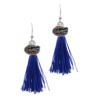 College Fashion University of Florida Logo Charm Tassel Post Dangle Eambi Earrings