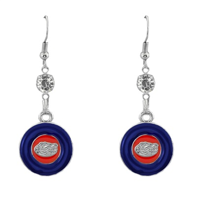 Silver Florida Gators Earrings