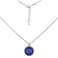 College Fashion University of Florida Logo Charm Nessa Necklace