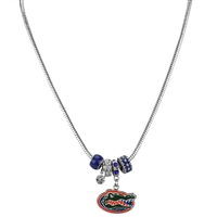 College Fashion Crystal University of Florida Logo Charms Natalya Necklace