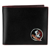 Florida State Leather Bi Fold Men's Wallet