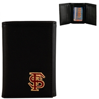 Florida State Leather Tri Fold Men's Wallet