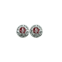 Florida State Circular Script Earrings | Eunice