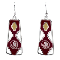 Florida State Aztec Print Earrings | Elaine