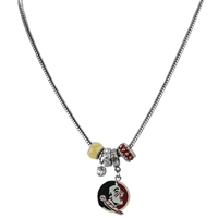 College Fashion Crystal Florida State University Logo Charms Natalya Necklace