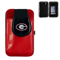 Mini Flat Wallet (Red) | Georgia