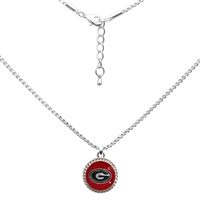 College Fashion University of Georgia Logo Charm Nessa Necklace