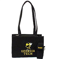 Georgia Tech Rectangular Large Handbag