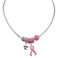 PINKTOBER RIBBON NECKLACE