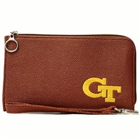 Georgia Tech Football Style Wrist Clutch Wristlet Wrist Bag