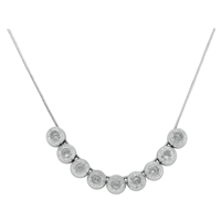 Elegant Diamond & White Gold Necklace