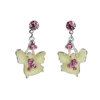 BREAST CANCER ANGEL EARRINGS