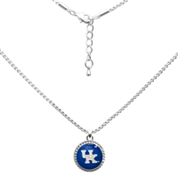 College Fashion University of Kentucky Logo Charm Nessa Necklace