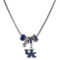 College Fashion Crystal University of Kentucky Logo Charms Natalya Necklace