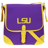 Louisiana State Jackson Crossbody Handbag LSU Messenger Bag Tiger Purse