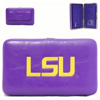 LSU Tigers College Wallet Clutch Case Purple Yellow