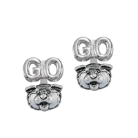 Go Louisiana State University Tigers Mascot Silver 3D Earrings