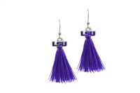College Fashion Louisiana State University Logo Charm Tassel Post Dangle Eambi Earrings