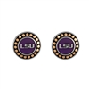 Round Pendant Earrings Louisiana Tigers