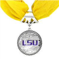 College Fashion Louisiana State University Crystals Ornate Scarf Pendant Charm