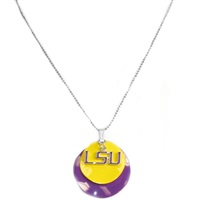 Silver Necklace Louisiana State Tigers