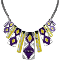 Louisiana State Aztec Print Necklace | Nova