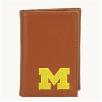 Men's Tri-Fold Wallet Michigan Wolverines Collegiate Wallet