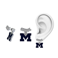 Michigan Wolverines Evie Mascot Stud Earrings