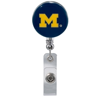 College Fashion University of Michigan Retractable ID Larry Lanyard Badge Reel
