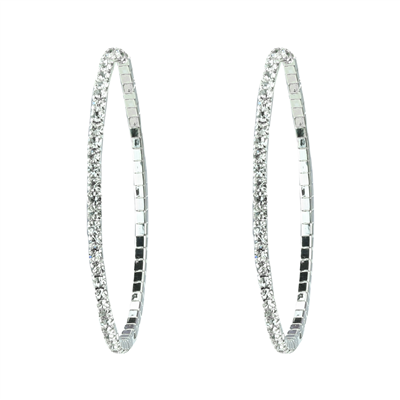 CRYSTAL HOOP EARRINGS | MEDIUM
