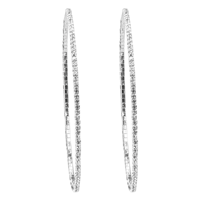 CRYSTAL HOOP EARRINGS | LARGE