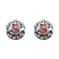 Eunice Circular Script Earrings NC State University