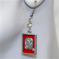 Square Dangle Earrings North Carolina State Wolfpack