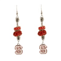 Beaded Dangle Earrings | North Carolina State