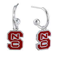 NC State Dangle Earrings