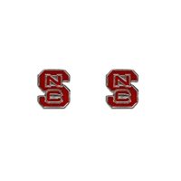 NCSU Wolfpack Logo Earrings NCAA Jewelry