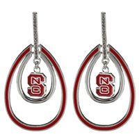 Double Tear Drop Earrings | North Carolina State