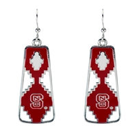 North Carolina State Aztec Print Earrings | Elaine