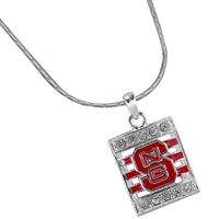 North Carolina State Square Stripe Necklace | Nancy