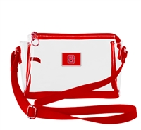 NCSU SMALL CLEAR HANDBAG