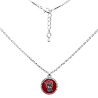 College Fashion North Carolina State University Logo Charm Nessa Necklace
